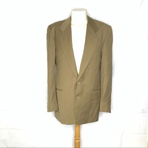 Giorgio Armani Brown Wool Herringbone Blazer 40L